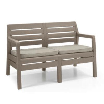 Allibert Delano műanyag kerti 2 üléses kanapé