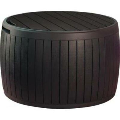 Keter circa wood műanyag kerti láda 140l