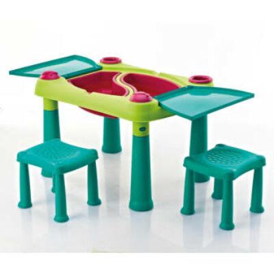 Keter Creative play table műanyag kerti játékasztal 2 székkel