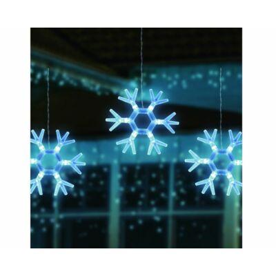 Karácsonyi hópihe ablakdísz (18cm)