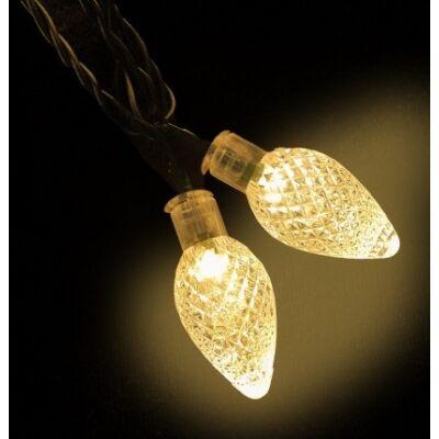 LED karácsonyi kristály fényfüzér (6,0m)