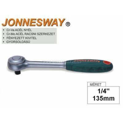 """Jonnesway Profi Racsnis Hajtókar 1/4"""" / 135mm / 72fog"""