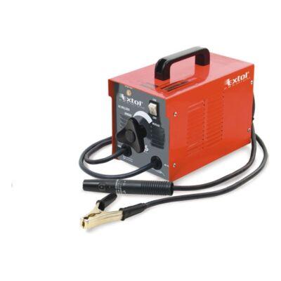 Extol hegesztőtrafó, 130A, 2-3,2mm pálcaméret, kábellel+pajzzsal, hűtőventillátorral