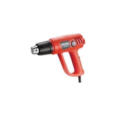 Extol hőlégfúvó pisztoly, 2000W, 2 fokozatú: I.50-450 °C / II.90-600°C