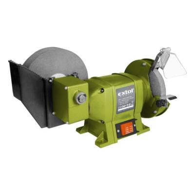 Extol kettős köszörűgép 250W, vizes/száraz:200mm×20×40/150×12,7×20mm, 134/2950 ford/perc, 8,5kg