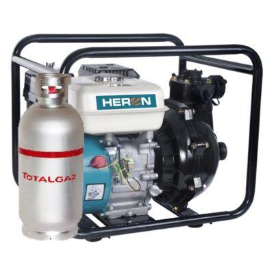 """Heron benzin-gázmotoros nyomószivattyú 6,5 LE (EPPH 15-10G), 1,5""""bemenet, 1×1,5"""" és 2×1""""kimenet"""