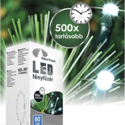 LED karácsonyi fényfüzér hideg fehér