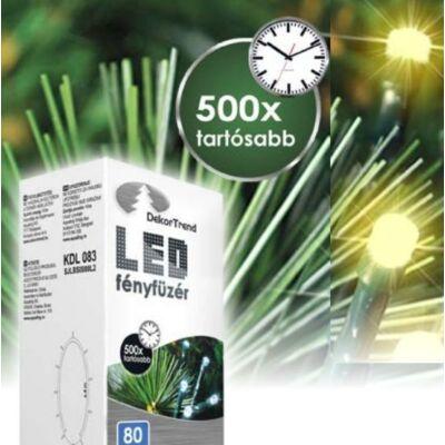 LED karácsonyi fényfüzér meleg fehér