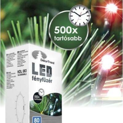 LED karácsonyi fényfüzér piros