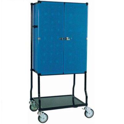 Gurulós műszerállvány zárható ajtóval 152x70x53cm (TB002)
