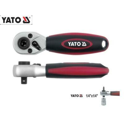 """Yato Racsnis Hajtókar és Bit-behajtó 1/4"""" / 136mm / 72 fog / YT-0331"""