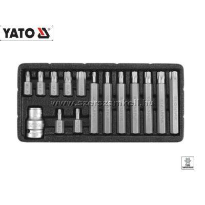 Yato Bit Készlet 15db-os (Furatos Torx) T20-T55 / YT-0417