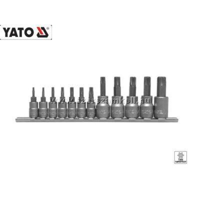 """Yato Furatos Torx-Dugókulcs Készlet 1/4"""" és 3/8"""" 11db-os T8-T55"""